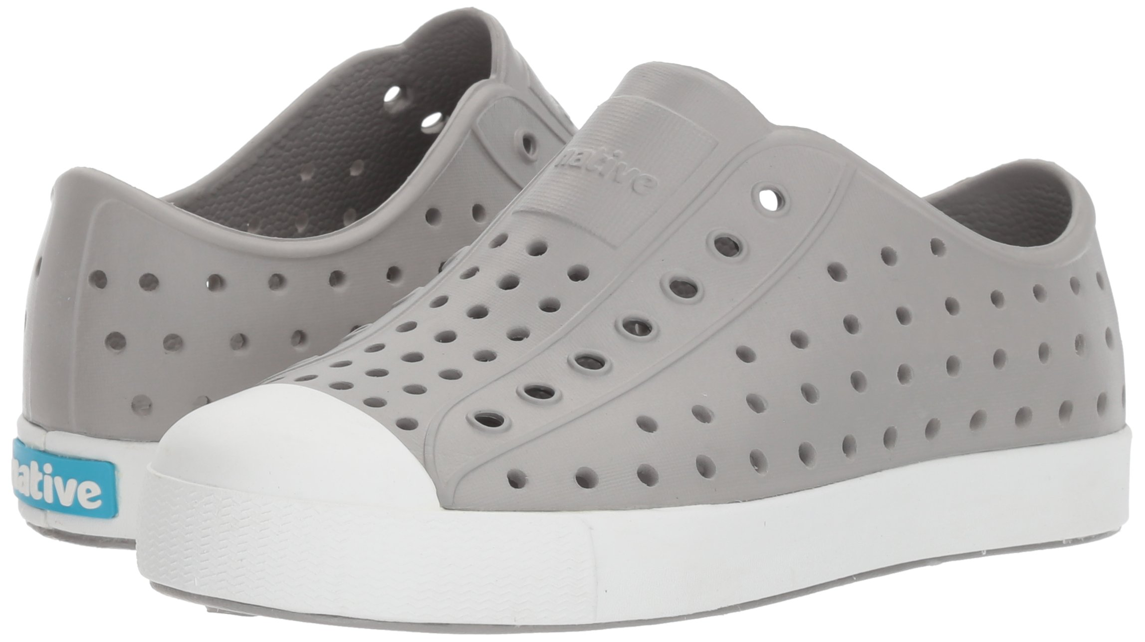 Native Kids Jefferson Junior Water Proof Shoes, Pigeon Grey/Shell White, 2 Medium US Little Kid by Native Shoes (Image #6)