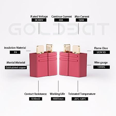 goldbat ultra t steckverbinder 1 paar mit vergoldeten stecker deans rh amazon de