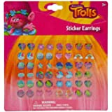Dreamworks Trolls Poppy Sticker Earrings 24 Pair Girls Dress Up Accessory