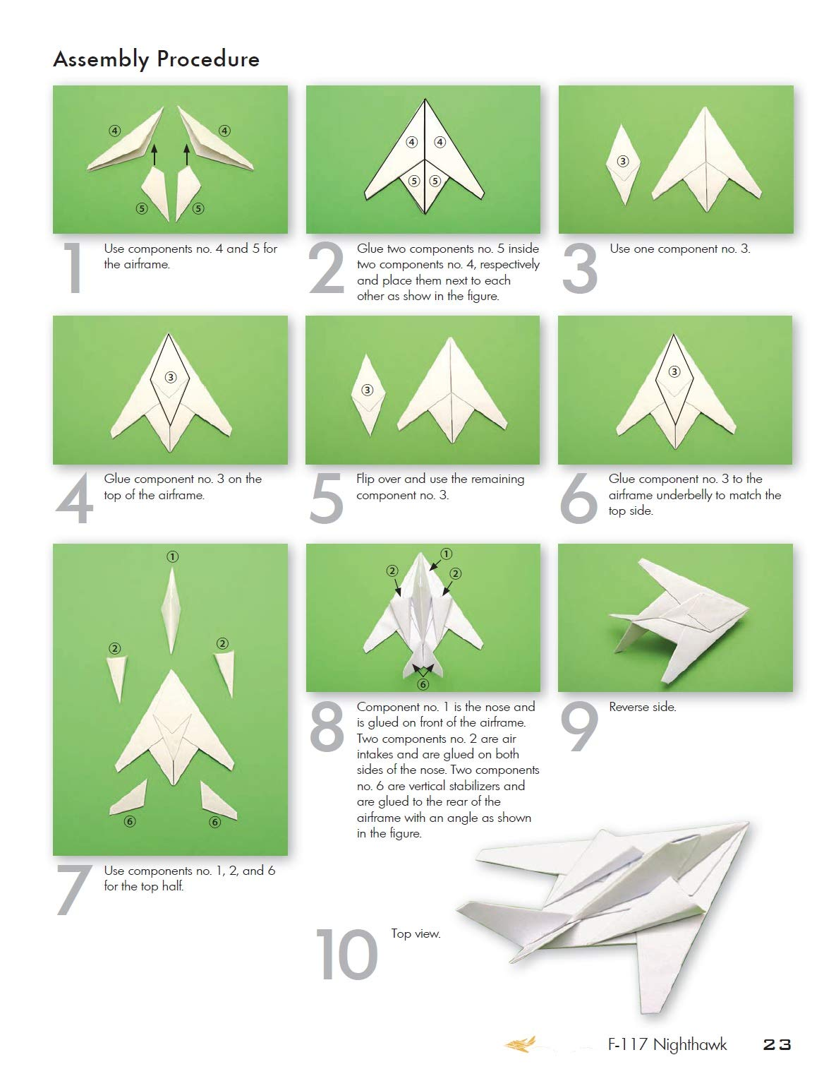 How to Fold an Origami F-15 Paper Airplane : 14 Steps (with ... | 1538x1185