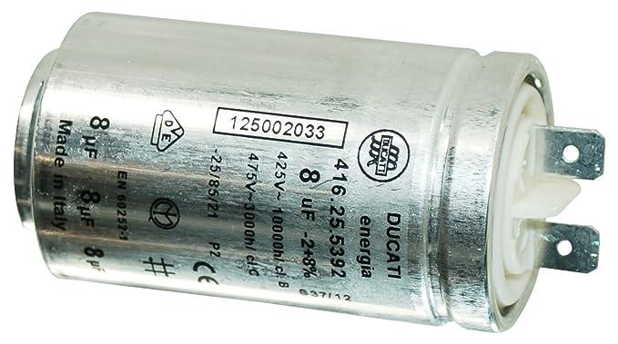 Zanussi secadora interferencia 8UF condensador 1250020334: Amazon ...