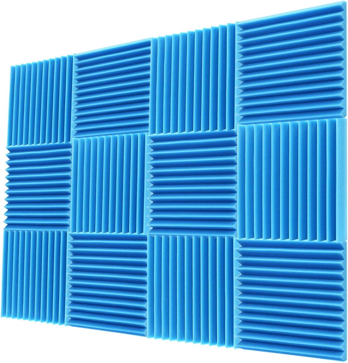 """Acoustic Foam Panels 2""""x12""""x12""""– Acoustic Panels, Sound Proof Padding, Sound Proof Foam Panels, Soundproofing Foam Panel, Studio Foam, Soundproof Foam, Acoustic Panel, Sound Foam Wedges"""