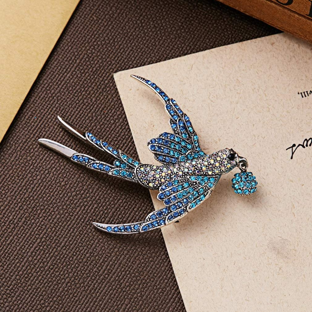 Jixing Broche Femmes Pin Color/é Strass Hirondelle Broches Pour Femmes Manteau Pull Clip D/écoration