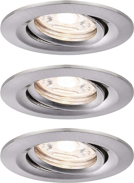 Paulmann Einbauleuchte LED Nova rund 3x6,5W Eisen gebürstet schwenkbar 7 Watt