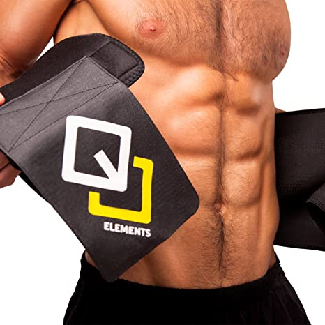 926161b59b GJELEMENTS Waist Trimmer Weight Loss Ab Belt Stomach Slimming Sauna belt  with Back Support for Men Women