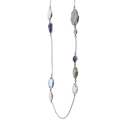 Silpada Lapis of Luxury Natural Chalcedony, Labradorite, Lapis, Glass Necklace in Sterling Silver