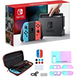 "Newest Nintendo Switch with Neon Blue and Neon Red Joy-Con - 6.2"" Touchscreen LCD Display, 802.11AC WiFi, Bluetooth 4.1…"