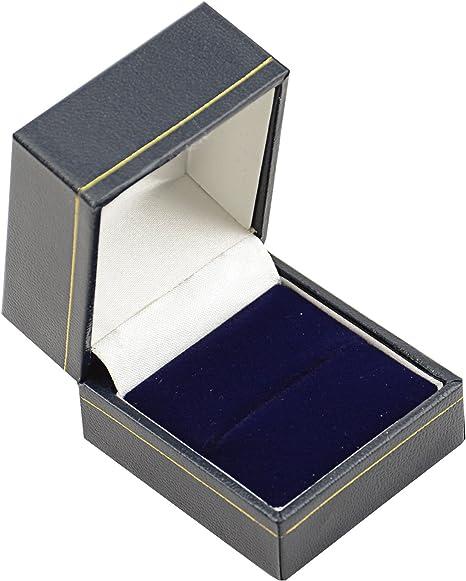 Hermosas cajas de madera de terciopelo sintético para anillos de ...