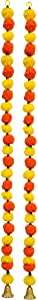 Decorative Handcrafted Multicolour Door Hangings Toran, Artificial Marigold Fluffy Flowers String Garlands Toran, Home Door Wall Hanging Decorative Pack of 2-115 cm