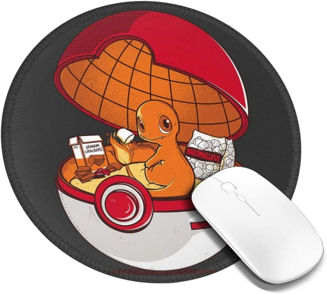 Red Pokehouse Charmander Monster of The Pocket Customized Designs Non-Slip Rubber Base Gaming Mouse Pads for Mac,7.9x7.9 in, Pc, Computers. Ideal for Working Or Game
