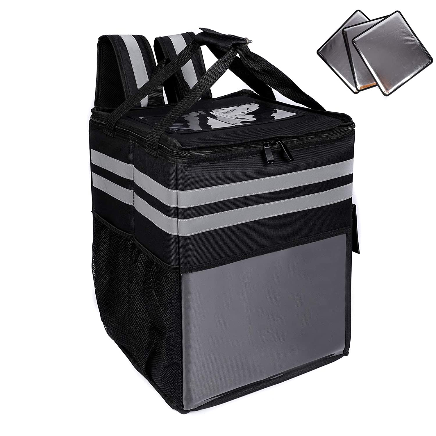 Insulated Pizza Delivery Bag, Food Delivery Backpack, Leak-Proof Thermal Backpack,Soft Sided Cooler Grocery Backpack