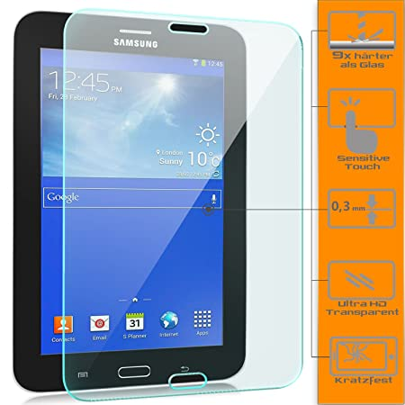 zanasta [3 Stück] Displayschutz Folie kompatibel mit Samsung Galaxy Tab 3 7.0 Lite Schutzfolie aus Gehärtetem Glas (Glasfolie