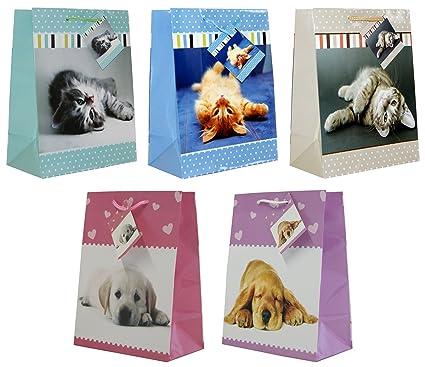 30 Bolsas de regalo Gatos y Perros M 23 x 18 x 10 – Bolsa de