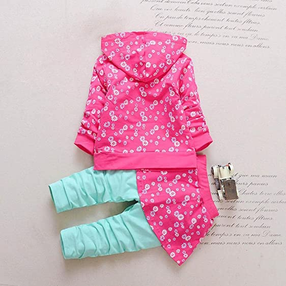 amazon com peanutcool toddler kid baby girls outfits floral hooded