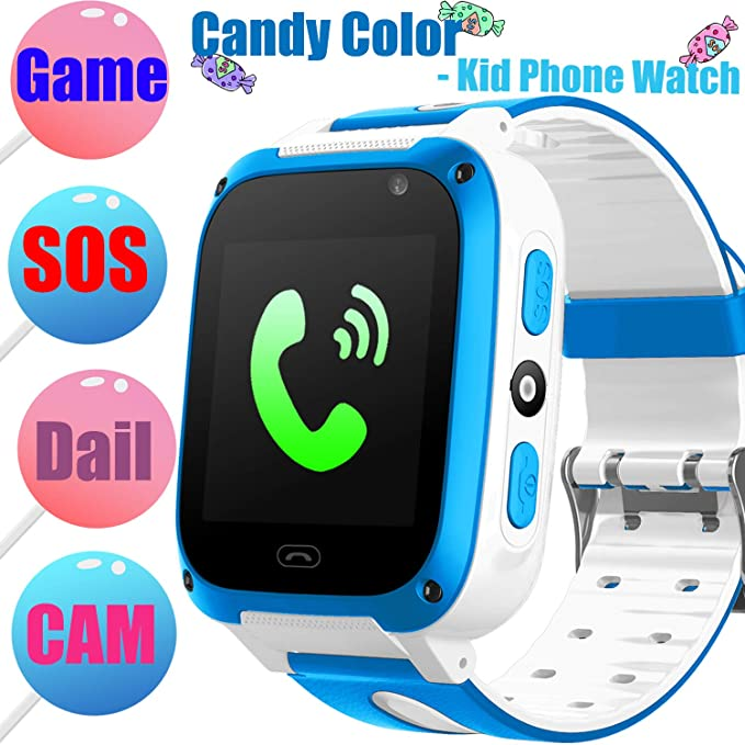 Kids Smart Watch Phone Game Smartwatches for Boys Girls Digital Wrist Watch Touch Screen One-Button SOS Camera Anti-Lost Outdoor Travel Cellphone ...