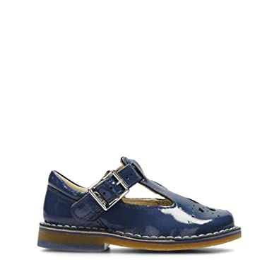 86ef994cd0f Clarks Yarn Weave First Leather Shoes in Blue Patent Wide Fit Size 4