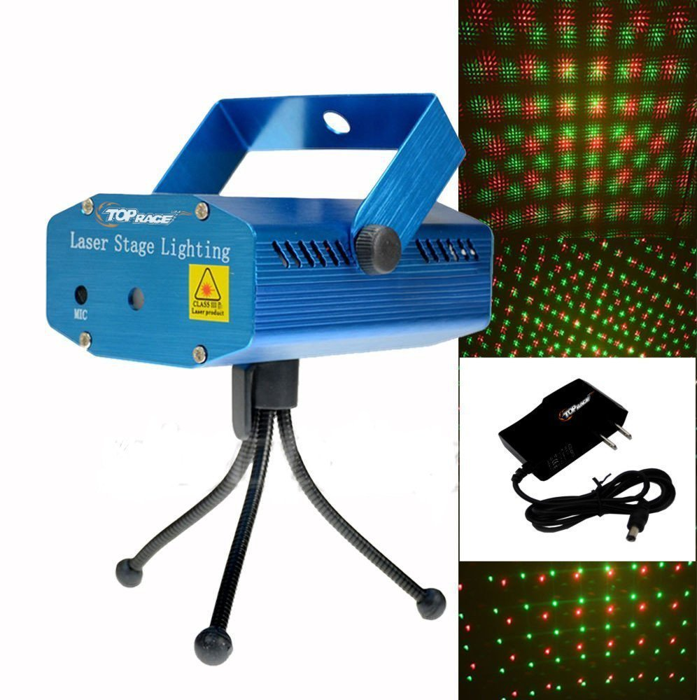 top race led mini stage light laser projector club dj disco bar stage light voice activated version fda amazon standards laser type class iiir