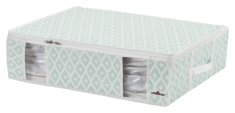 Microfibra Aqua Color Printing on White Compactor Daman Estilo Bolsa de Almacenamiento vac/ío Aqua Large