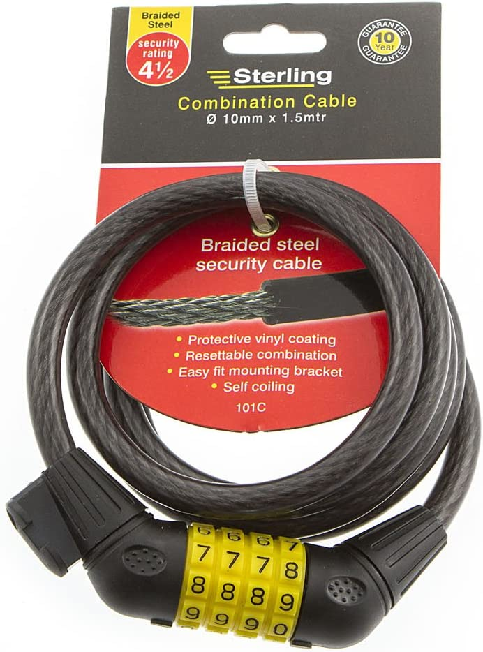 Sterling 1218C Combination Locking Cable with LED