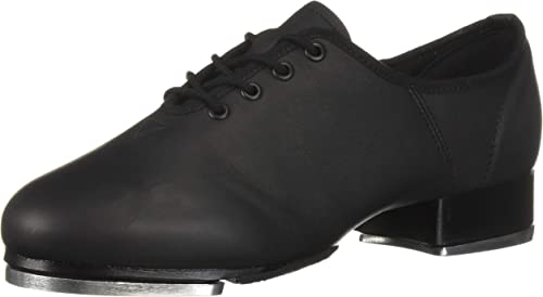 Unisex Tap Dance Shoes Lace-up Anti-slip Dancing Shoes Stage Performance Heels