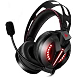 Combatwing Gaming Headset with Microphone for PS4, PC, Xbox One Headset (Adapter Not Included) with Noise Canceling Mic, Bass