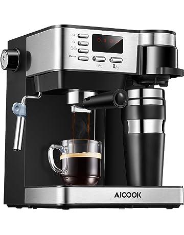Aicook Cafetera Multifuncion 3 en 1 Espresso, Goteo y Espumador Máquina de café Expresso de