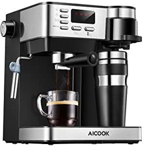 AICOOK-Espresso-and-Coffee-Machine,-3-in-1-Combination-15-Bar-Espresso-Machine-and-Single-Serve-Coffee-Maker