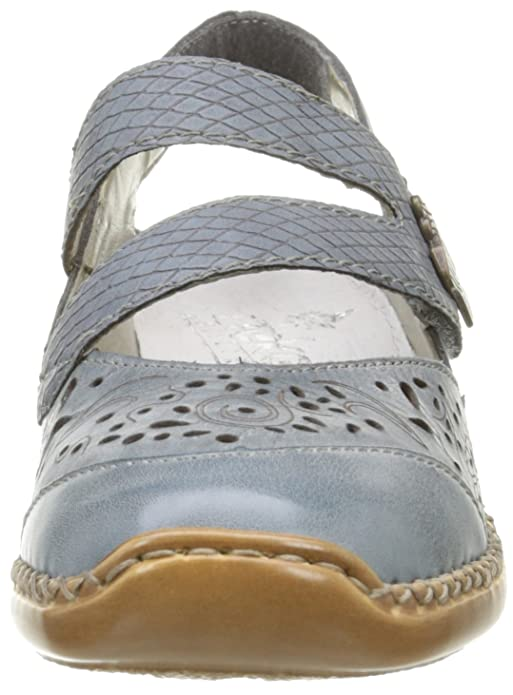 Rieker Women's 41383 12 Platform Heels, Bleu (whitedenim/whitedenim/Azur),  4 UK: Amazon.co.uk: Shoes & Bags
