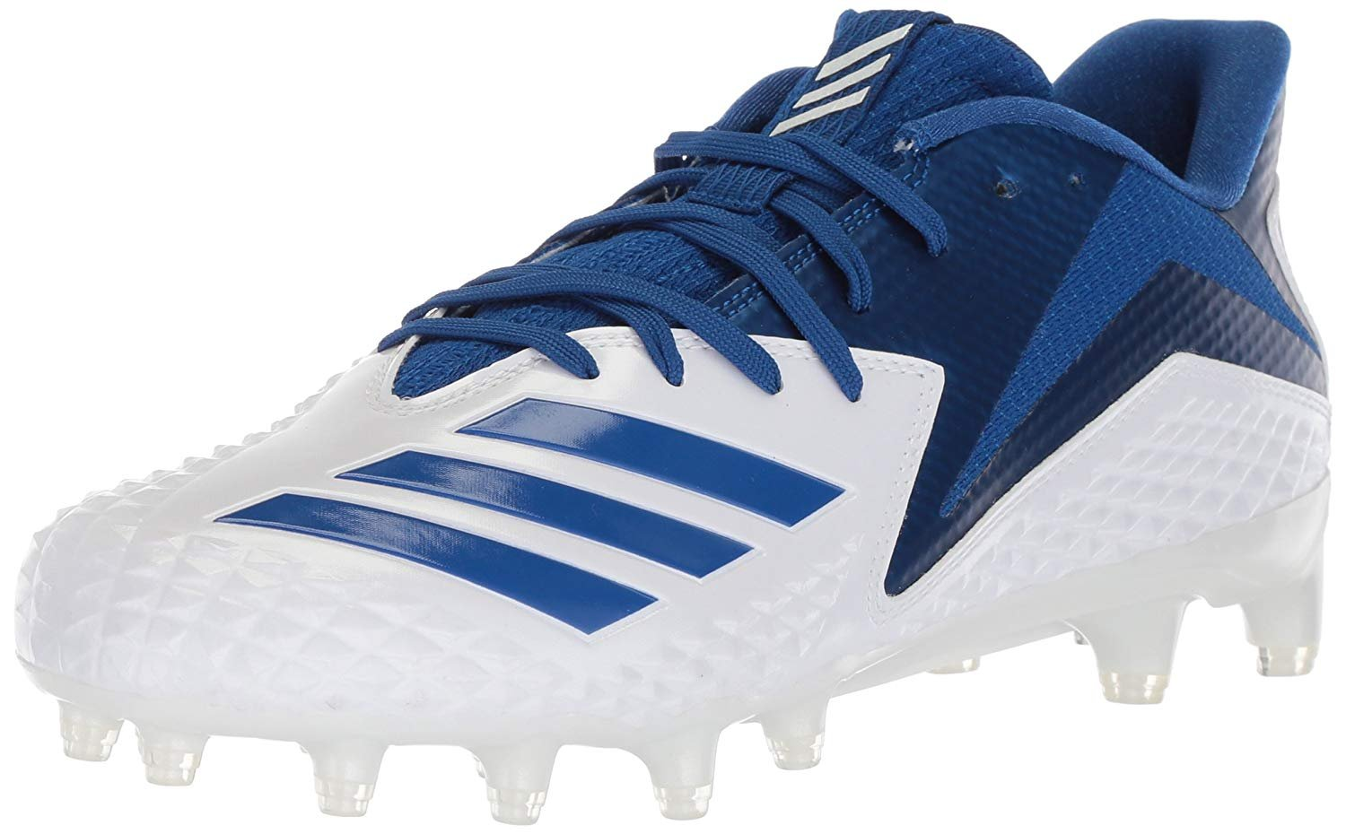 adidas Men's Freak X Carbon Mid Football Shoe, White/Collegiate Royal/Collegiate Royal, 13.5 M US by adidas