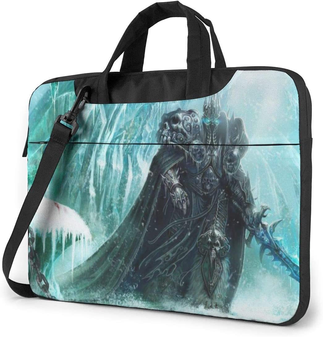 World Warcraft Laptop Tote Bag Tablet Briefcase Ultra Portable Computer One Shoulder Shockproof Laptop Bag15.6 Inch