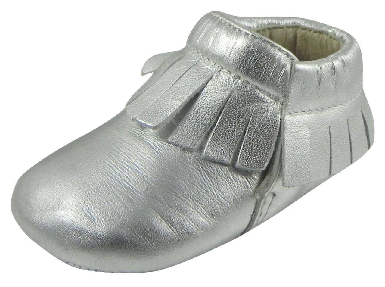 Old Soles Unisex Fringe Boot Slip On (Infant/Toddler), Silver, 21 EU(5 M US Toddler)