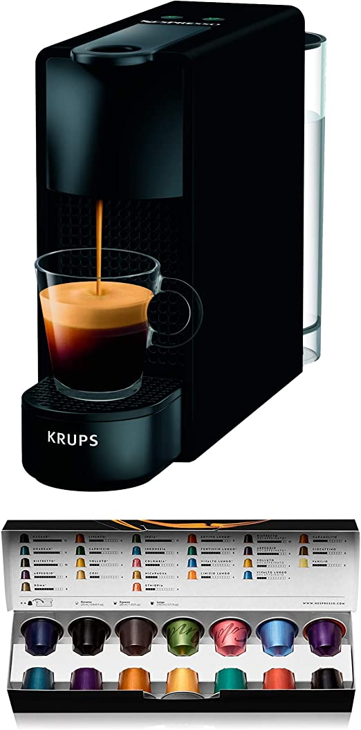 Cafetera de cápsulas Krups ESSENZA MINI color Negro Mate XN110N10 ...
