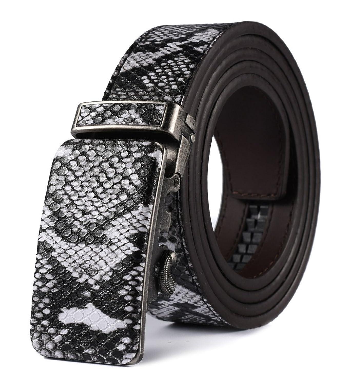 蛇紋ベルト サイズ調整可能 Autolock ベルト メンズ 革 ブランド レザー ビジネス プレゼント 特別ベルト 父の日 B071Z8FCMR  蛇紋2