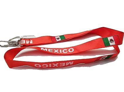 Llavero con correa para el cuello con la bandera de México ...