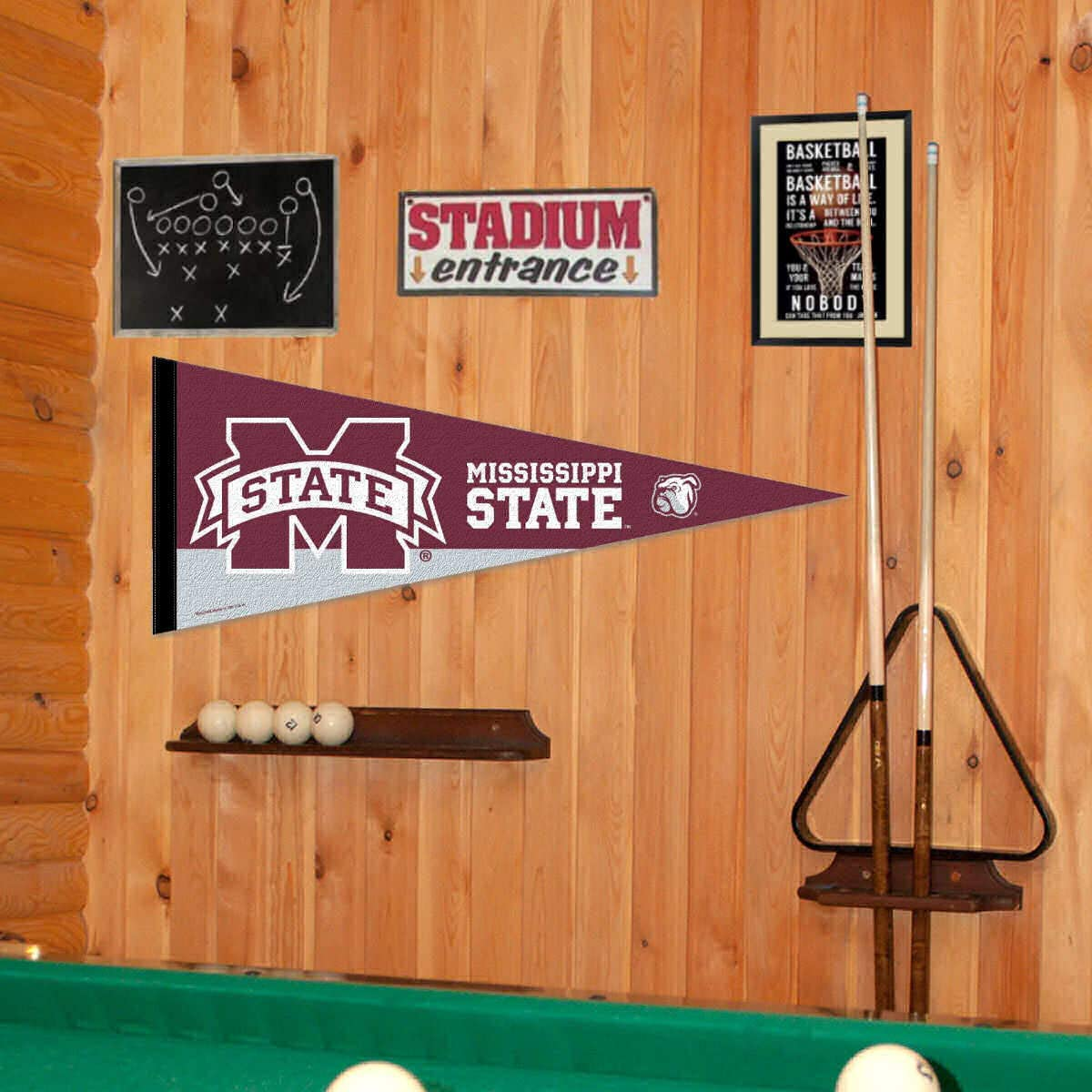 WinCraft NCAA 64598092 Mississippi State University Premium Pennant 12 X 30