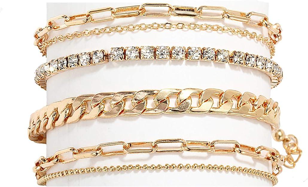 Beach Anklets Set of 4  Waterproof Bracelet Set Boho Anklets VSCO Bracelets HIGH TIDE Bracelet or Anklet Stack Surfer Bracelets