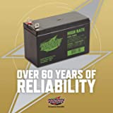 """Interstate Batteries Generac Generator Replacement Battery 0G9449 1/4"""" Nut and Bolt Terminals - 12V 9AH 36W - SLA…"""