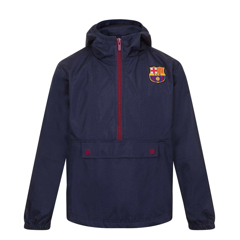 FC Barcelona Official Football Gift Boys Shower Jacket Windbreaker