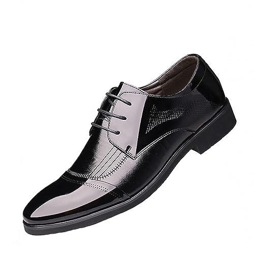 QLVY Hombre Mocasines Derby para Zapatos con Cordones de Cuero Zapatos Oxford Waterproof Zapatos de Cuero
