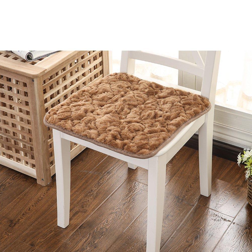 ccyyjjシートクッションin the PlushベルベットThickenedローズ、椅子のクッションanti-slipsのOffice Chair椅子スツール正方形クッションマットpad-m 50 x 50 cm20 x 20 cm ) 45x45cm(18x18inch) 6001 B07CJVPBK4 45x45cm(18x18inch)|A A 45x45cm(18x18inch)
