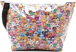 "iscream 'Emoji Collage' Weekender 23.5"" x 16"" x 9"" Travel Tote Bag with Adjustable Strap"
