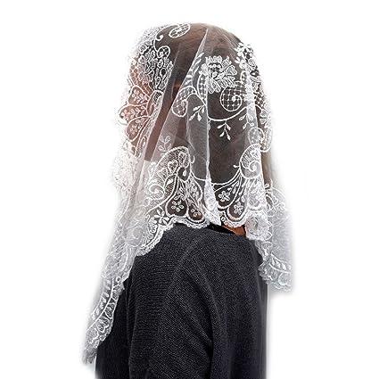 ANGELYK corsets habillés - Mantille Etole Triangle Véritable Dentelle  Blanche Satinée 60 x 80 x 120cm 9adf371db0f