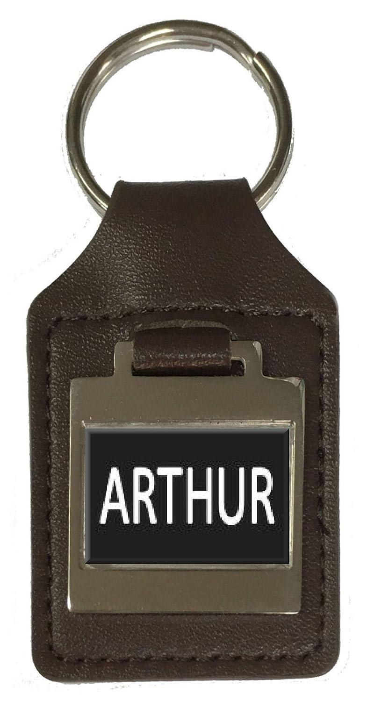 Arthur Leather Keyring Birthday Name Optional Engraving