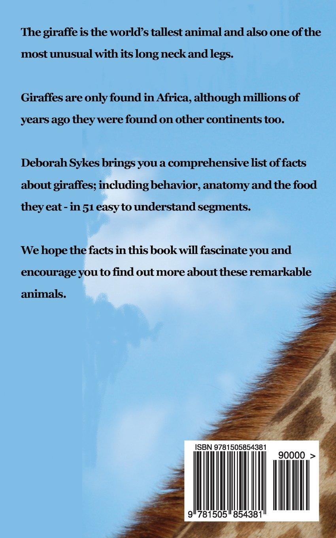 Giraffes: 51 Fascinating Facts For Kids (Volume 8): Deborah Sykes