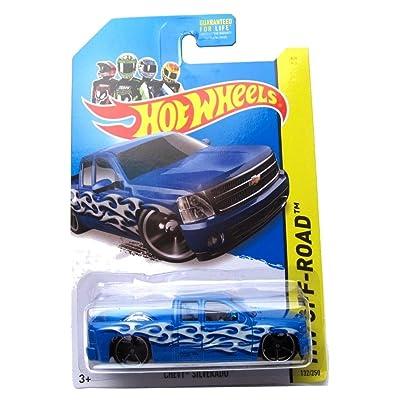 Hot Wheels HW Off-Road Chevy Silverado 132/250, Blue: Toys & Games