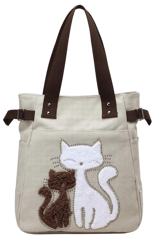 ebf331cc0c Amazon.com  Women Handbags and Purse Canvas Tote Bag Cute Big Shoulder Bags  Shopping Pack  Shoes