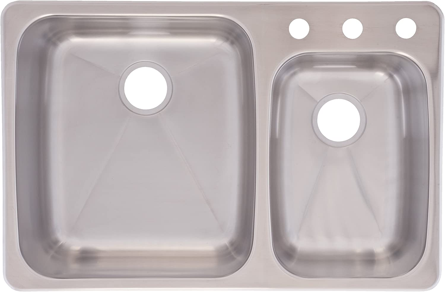 Franke C2233r 9 Stainless Steel 33 1 4x 22in Dualmount Double Bowl Sink Dualmount Double Bowl Kitchen Sink Amazon Com