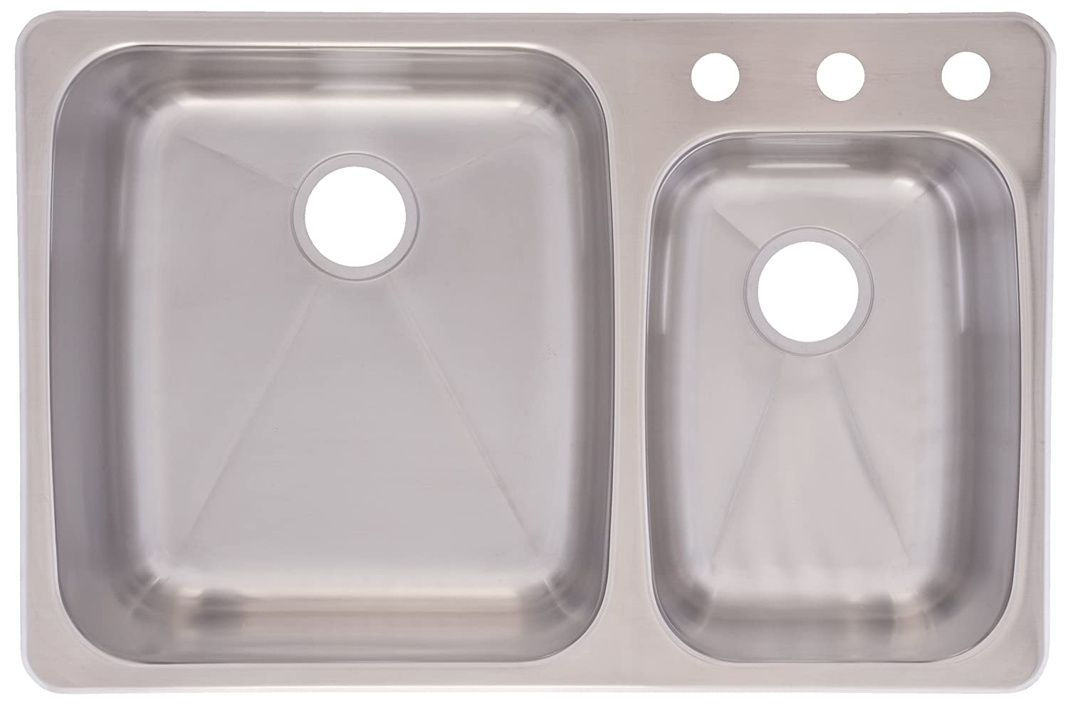 Delightful Franke C2233R/9 Stainless Steel 33 1/4x 22in. Dualmount Double Bowl Sink    Dualmount Double Bowl Kitchen Sink   Amazon.com