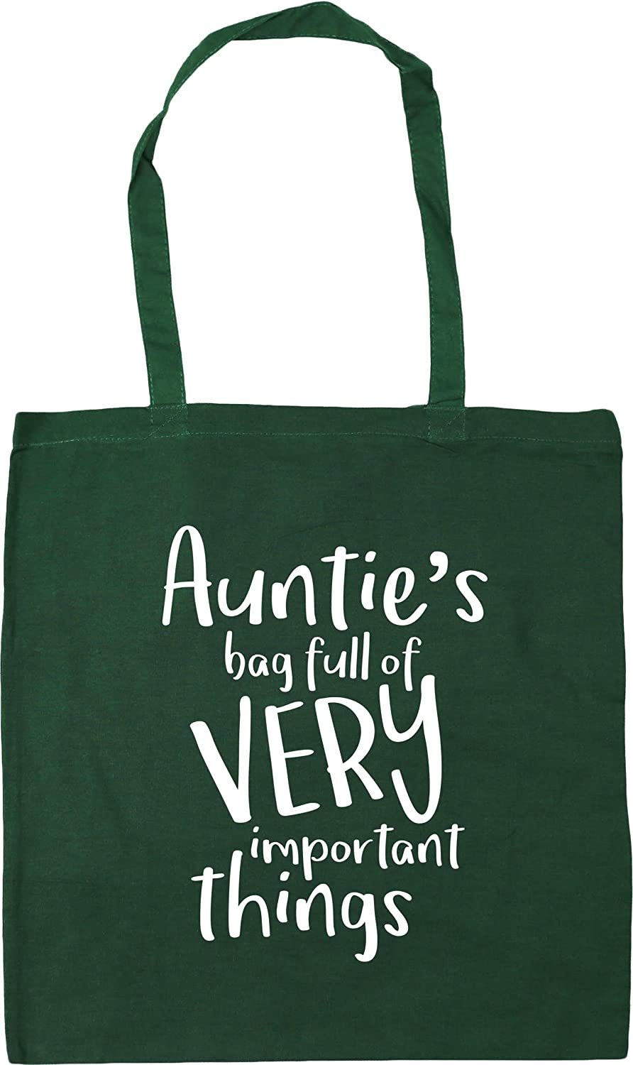 HippoWarehouse Auntie's Bag Full of Very Important Things Tote Shopping Gym Beach Bag 42cm x38cm, 10 litres 22931-TOTE-Black