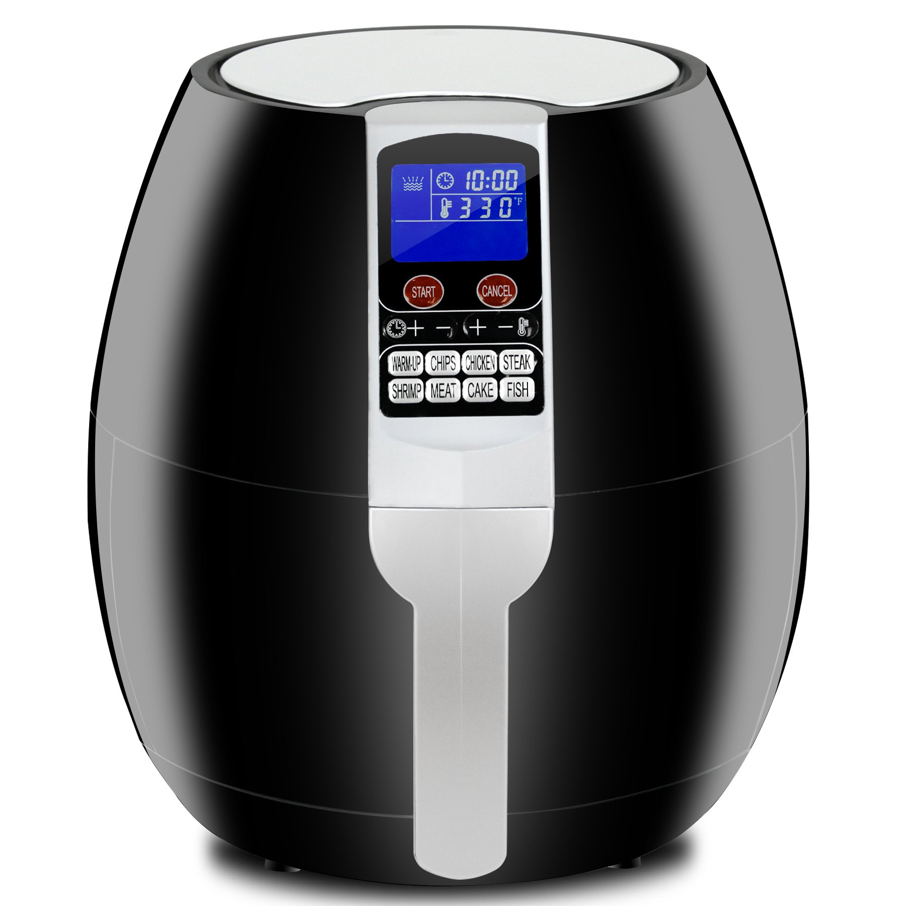 Super Deal 3.7Quart Electric Air Fryer w/ 8 Cooking Presets, Temperature Control, Auto Shut off & Timer, LCD Digital Display Screen